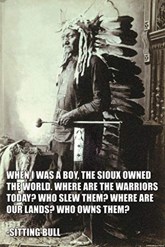 (ArtParisienne When I was a Boy, The Sioux Owned The World Sitting Bull 16x24-inch Wall Decal)