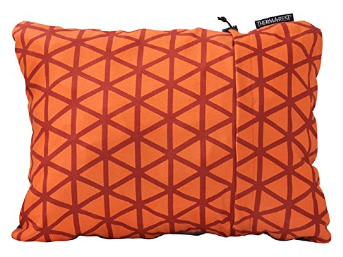 "Therm-a-Rest Compressible Travel Pillow for Camping, Backpacking, Airplanes and Road Trips, Cardinal, Large: 16"" x 23"""