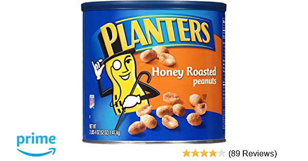 Planters Dry Honey Roasted Peanuts (52 oz, Pack of 2)