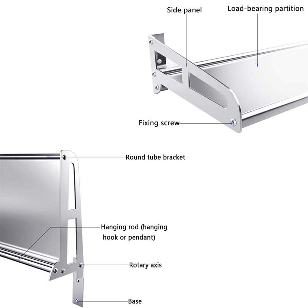 Amazon.com: Stainless Steel Foldable Microwave Oven Rack (Size : XS): Kitchen & Dining
