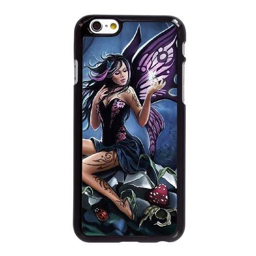 R1E53 papillon Fearie Animations M4L9TB coque iPhone 6 Plus de 5,5 pouces couverture de coque de cas de téléphone portable noir DI8KUA0JS