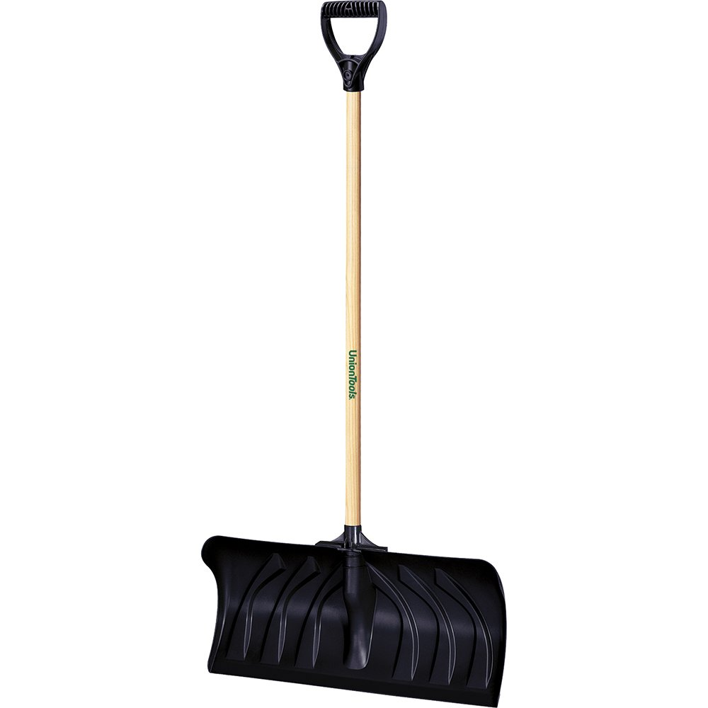 Ames UnionTools 24-Inch Snow Pusher with Hardwood Handle-1630400