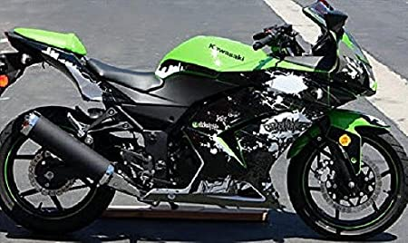 2008 - 2012 Kawasaki Ninja 250 250R Negro Graffiti gráficos ...