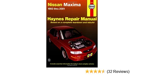 nissan maxima 1993 thru 2001 hayne s automotive repair manual rh amazon com 2003 Nissan Maxima 2001 Nissan Maxima Manual Transmission'