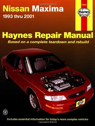 nissan maxima 1993 thru 2001 hayne s automotive repair manual rh amazon com 1998 Nissan Maxima 1993 Nissan Altima