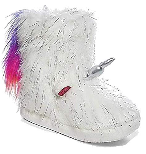 Justice Unicorn Rainbow Tail Slipper Boots Size 4/5 -