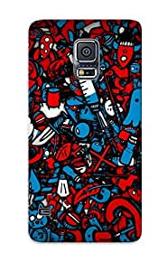 taoyix diy Galaxy S5 Case Cover Cats Mess Mushrooms Numbers Syringe Artwork Case - Eco-friendly Packaging