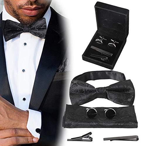 FIBO STEEL 4-6 Pairs Wedding Business Classic Cufflinks for Men Unique Cufflink Set Mens (F)