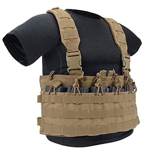 GLORYFIRE Tactical Vest Elite Molle Law Enforcement Vest Assault Chest Modular Vest (TT) (Airsoft Chest Rigs)