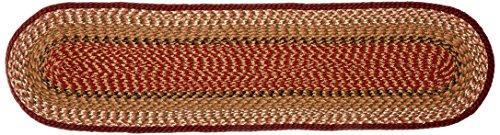 Earth Rugs 44-019 Burgundy-Mustard Oval Table Runner