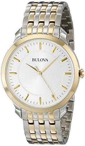Bulova Men's 98A121XG Quartz Yellow Gold and Silver-Tone Bracelet 41mm Watch(Renewed)