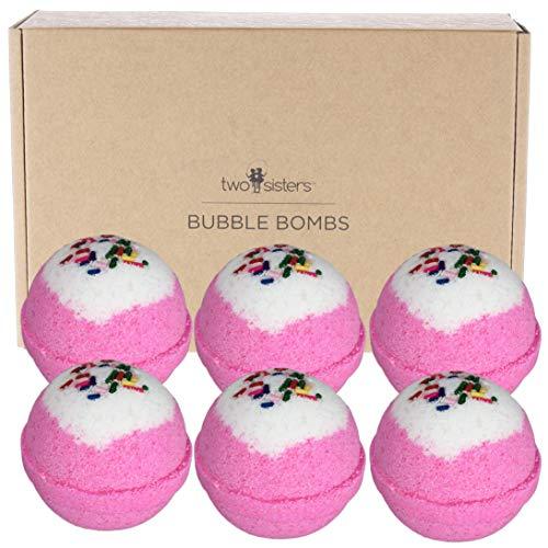 6 Birthday Cake BUBBLE Bath Bombs Gift Set. USA Made Large Lush Spa Fizzy Handmade Gift Idea for...