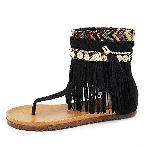 Sconosciuto  8729, Damen Sandalen schwarz schwarz IT 38 Camel