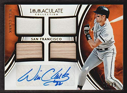 Will Clark Autograph - 2016 Immaculate Collection Baseball Autograph Quad Materials Will Clark Auto Jersey 05/49 San Francisco Giants
