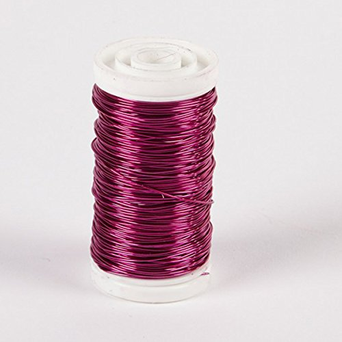 Cerise Jewelry - FloristryWarehouse Metallic Wire Reel 3.5 oz Cerise Pink By Oasis