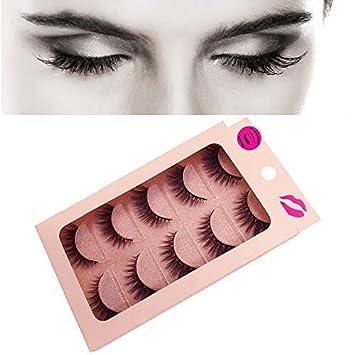 ad150a4f486 Amazon.com : DAODER Faux Mink Lashes Strip 5 Pairs Wispy Natural Looking  False Eyelashes Pack Reusable Handmade Soft Fake Eyelashes : Beauty