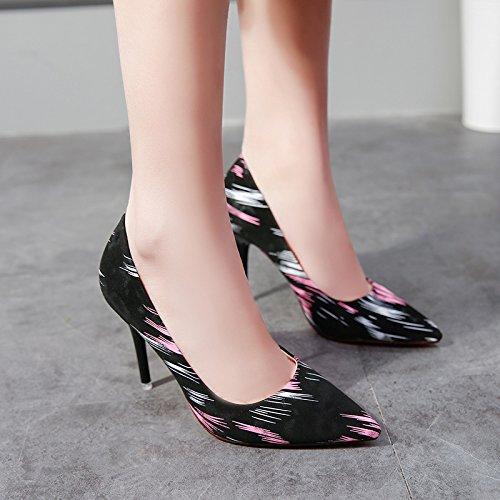 Rosa fein yalanshop Schuhen Weibchen Bannfarbe einzelen Spitzenlicht 38 ist Schuhe Hochhackige mit Stilvolles tOwBOqP