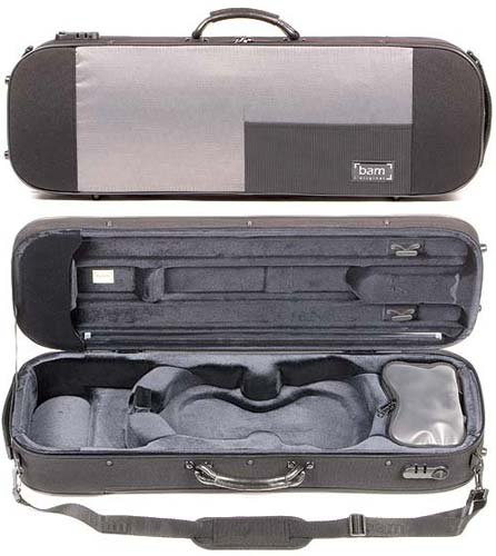 Bam Stylus 5001S 4/4 Violin Case with Black Exterior and Silver Interior by Bam France (Image #4)