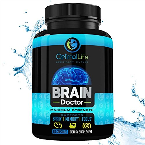 Bacopa Monnieri Capsules Brain Booster Smart Pill for Adults Increase Clarity & Energy - Healthy Extract All Natural - Enhance Mood & Awake Mind W/DMAE