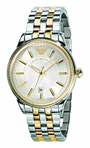 Emporio Armani AR0596 Mens White Steel Gold Watch