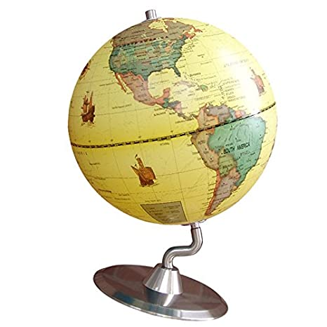 4auto-rotante geografia mappamondo mappamondo ornamenti home office decor blu