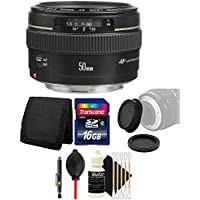 Canon EF 50mm f/1.4 USM Standard Lens for Canon SLR Cameras - Fixed Lens and Bundle