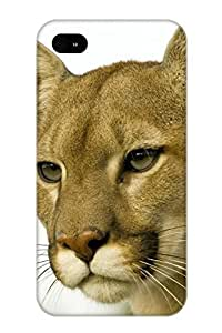 Inthebeauty Case Cover Animal Cougar/ Fashionable Case For Iphone 4/4s