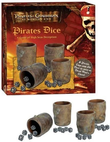 USAopoly Pirates of The Caribbean Pirates Dice: A Game of High Seas Deception by: Amazon.es: Juguetes y juegos