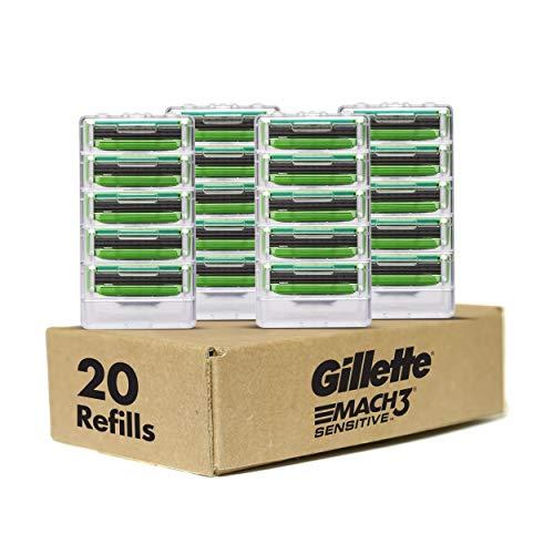 Gillette Mach3 Sensitive Men's Razor, 20 Refills