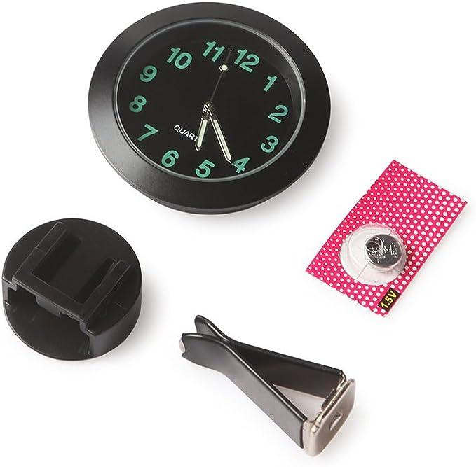 Voiture Tableau De Bord Horloge Konesky Mini Horloge De Voiture Air Vent Clip Horloge Lumineuse Horloge Auto Int/érieur Horloge /À Quartz pour Bureau Workbench Casier