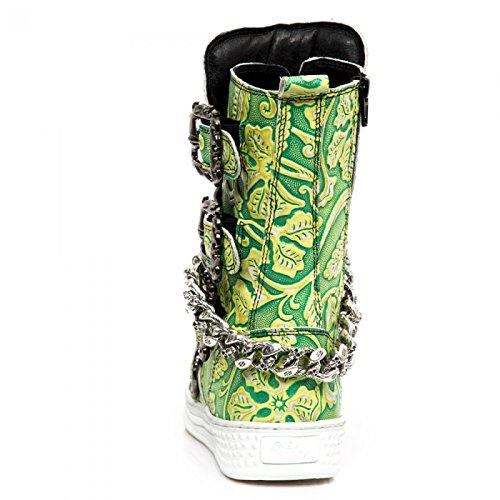 New Rock Boots M.ps048-s6 Gotico Hardrock Punk Herren Stiefel Grün