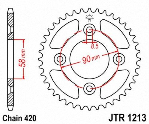 JT Sprockets JTR1213.37 37T Steel Rear Sprocket