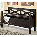 Coaster Home Furnishings Traditional Bench, Dark Walnut Review