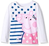 Peppa Pig Toddler Girls' Clothing Shop (Multiple Styles), LS Tee White, 4T
