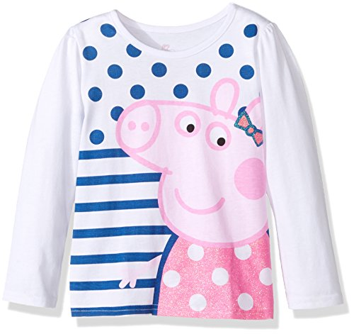 Peppa Pig Toddler Girls' Clothing Shop (Multiple Styles), LS Tee White, 4T by Peppa Pig