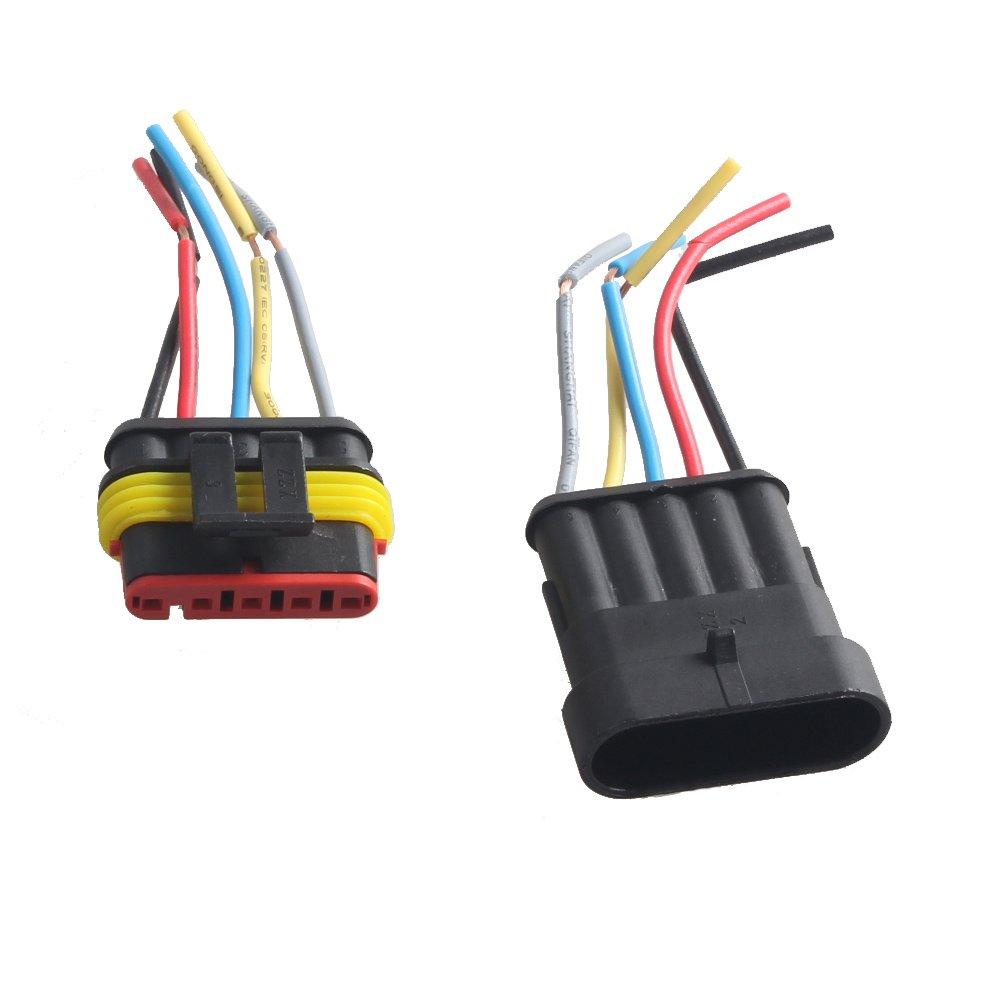 Mintice™ 4 vie Pin kit presa auto auto impermeabile connettore elettrico con AWG calibro marino
