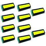 Optimus Electric 10pcs I2C LCD 1602 Screen Module 16 x 2 Black Character Display with Adjustable Contrast and Yellow - Green Backlight from