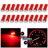 99 yukon dash board - CCIYU 20 Pack T5 3-3014SMD Instrument Dashboard Wedge LED Car Light Bulbs Lamp 37 73 Red Fit 1995-1997 1999-2002 Dodge Spirit Viper Stealth B3500 B2500 Ram 3500 Ram 2500 Intrepid Avenger Durango