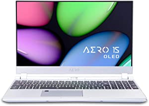 "GIGABYTE AERO 15S OLED XA-7US5130SP [Silver] 15"" Thin Bezel Samsung UHD Amoled, i7-9750H, NVIDIA GeForce RTX 2070 Studio, Samsung 16GB RAM, 512GB Intel 760P SSD, W10 Pro, RGB KB, 94W Ultra Slim Laptop"