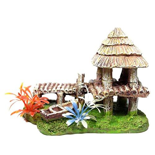 ish Tank Rock Hiding Cave Beach House Landscape Decor Ornament ()