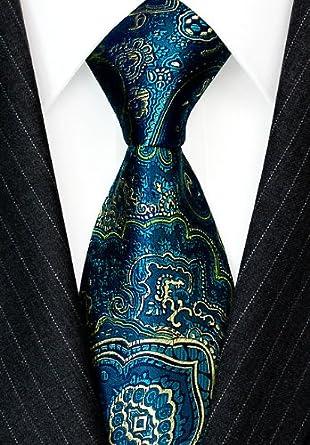 LORENZO CANA - Corbata - Paisley - para hombre Turquesa petróleo ...