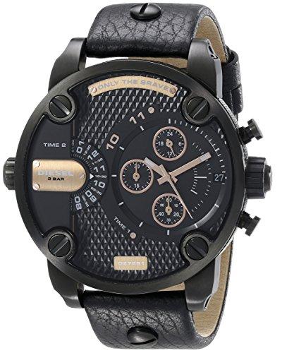 - Diesel Men's DZ7291 Little Daddy Analog Display Analog Quartz Black Watch