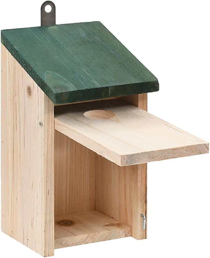 vidaXL 4X Madera de Abeto Casa para P/ájaros Pajarera Caja de Anidaci/ón Jaula Aviario Pajarer/ía Jard/ín Suministro Aves Balc/ón Patio Terraza 12x16x20 cm