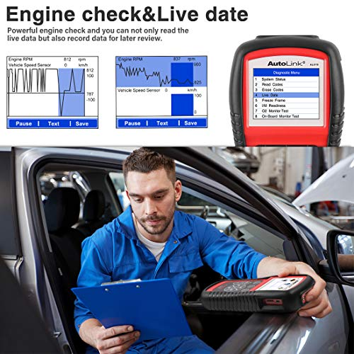 Autel AutoLink AL619 OBD2 Scanner ABS/SRS Diagnostic Scan Tool,Turns Off Engine Light (MIL) and ABS/SRS Warning Lights,Same Function as The ML619 Code Reader by Autel (Image #3)