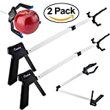 Futureup 2 Pack - 32'' Foldable Long Handy Assist Tool, Heavy Mobility Aid Gripper Tool, Claw Trash Garbage Picker, Garden Nabber, Especially Suit for Grabbing Hold of Heavy, Spherical Objects (3 Claw)