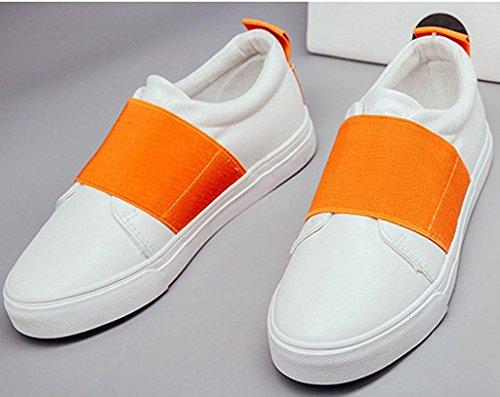 Minetom Mujer Chicas Ocio Estudiantes Lona Zapatos Moda Casual Plataforma Del Holgazán Zapatos Naranja