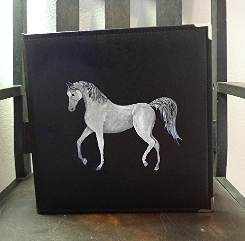 Arab Arabian Horse Hand Painted Photo Album / Scrapbook for Show Photos, Awards, Action Shots, Agility ()
