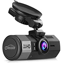 """Oasser FHD Dashcams for Cars Car Camera Dash Cam Auto with FHD 1920x1080P 1.5"""" G-Sensor 170°Angle Night Vision Mute Function Support GPS"""