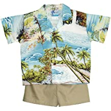rjc Boys 6meses a 7Toddler Paradise Island Surf 2pc Set