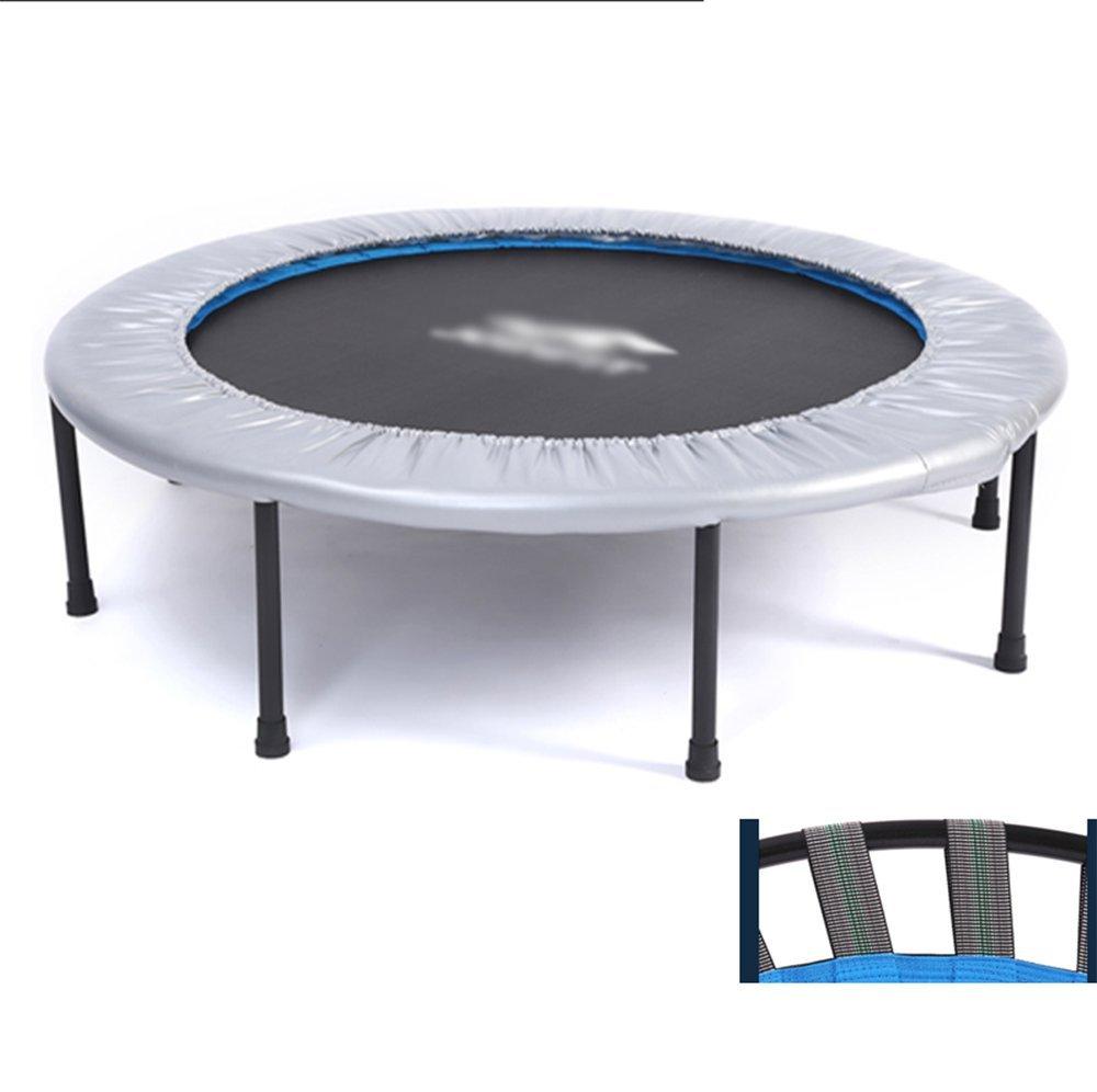 Wly&Home Fitness-Trampolin (Ø121 cm), Klappbar, Gummiseilsystem, Trampolin Innen, Heimtrainer Trampolin, Grau,
